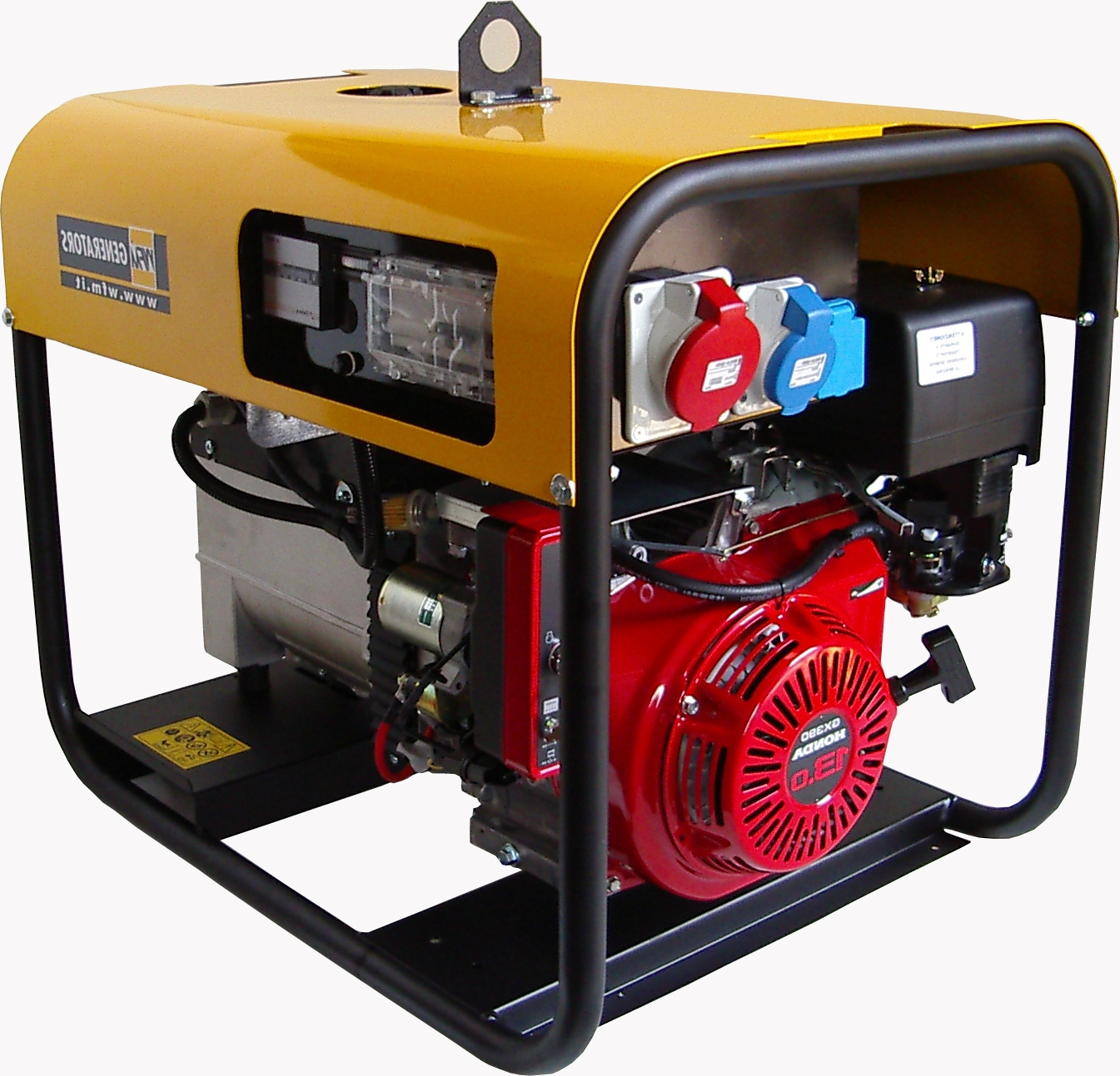 Gruppo Elettrogeno 6 Kw Trifase 400v Benzina Motore Honda